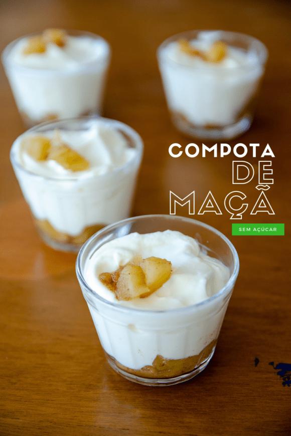 como fazer compota de maçã sem açúcar