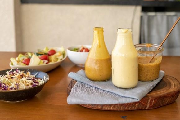molho mostarda e melaço, receita de molho de salada vegano