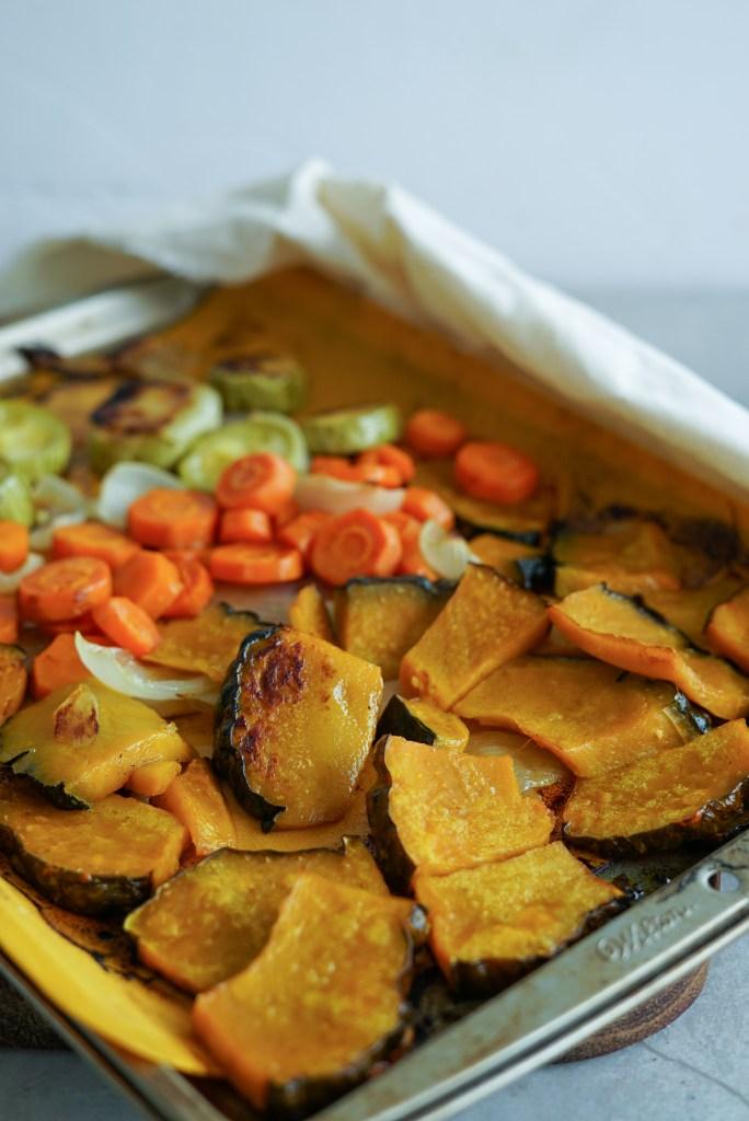 receita de legumes assados de uma panela só