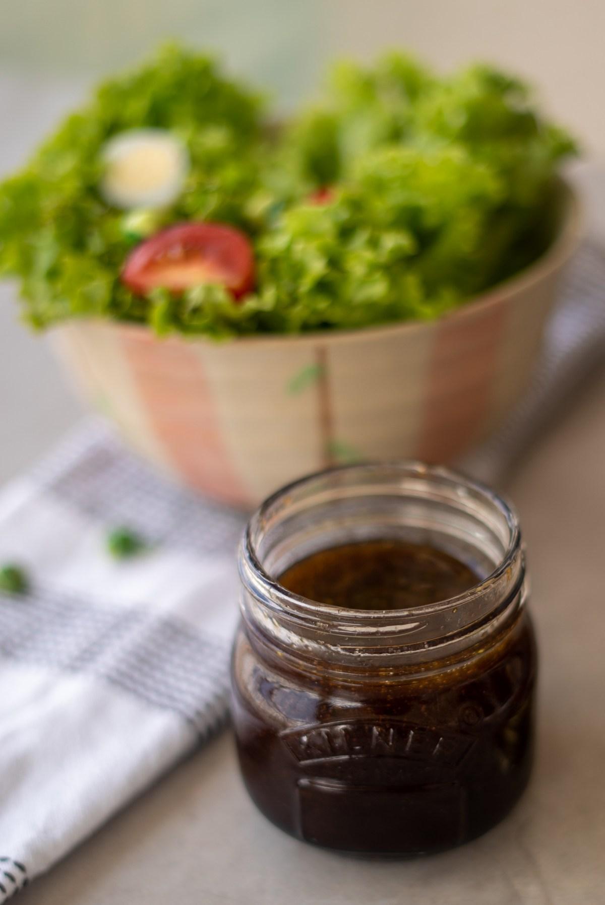 molho para saladas com aceto balsamico, receita facil