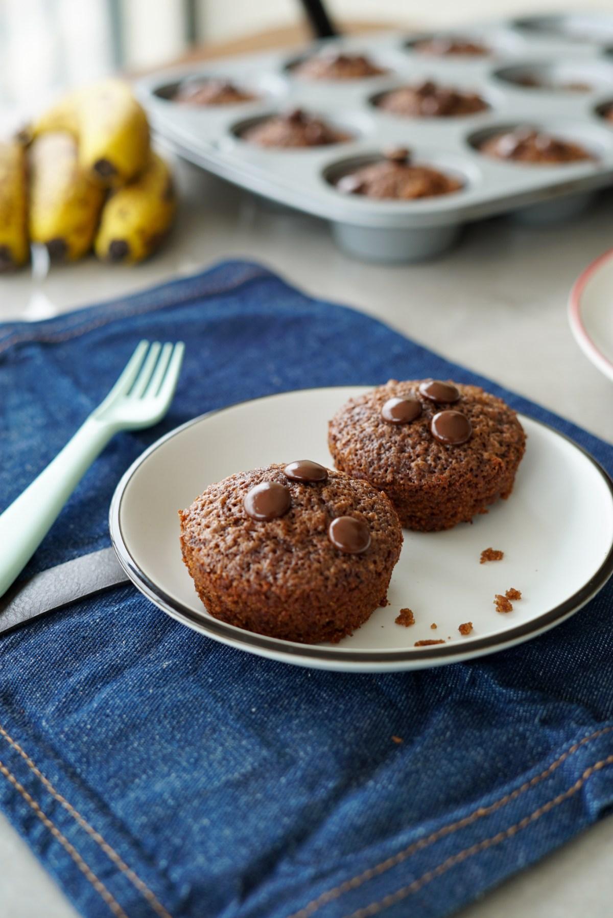 bolo de banana com chocolate - receita fácil para a lancheira