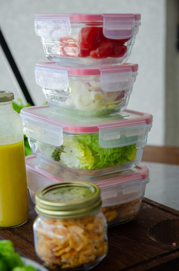 molho de salada e como montar saladas para a semana toda