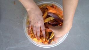 como fazer batata doce assada no forno