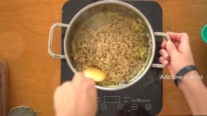 arroz refogado para a marmita da semana