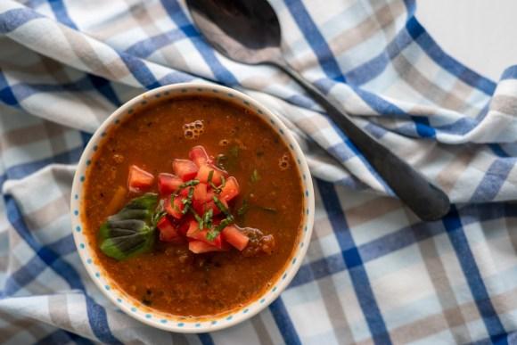 sopa de tomate tradicional