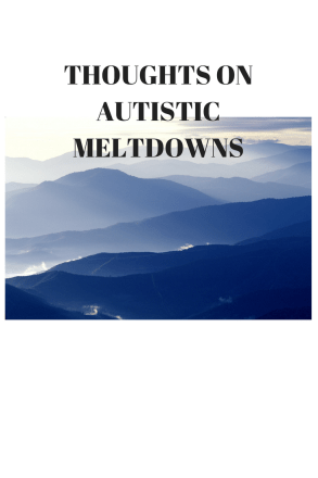thoughts on autistic meltdowns