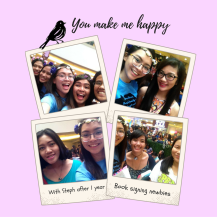 WIth my book signing buddies during Jennifer Niven in Manila book signing. JenniferNivenInPH