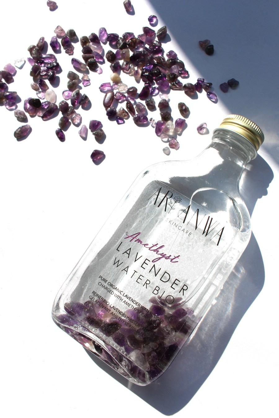 Lavendelwasser Bio mit Amethyst-Kristalle