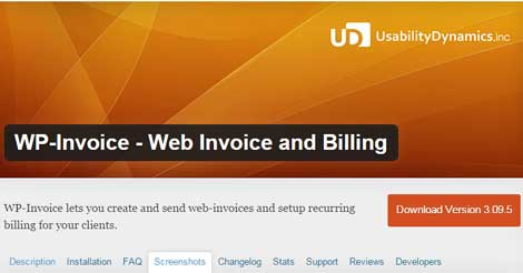 WP-Invoice - Web Invoice and Billing