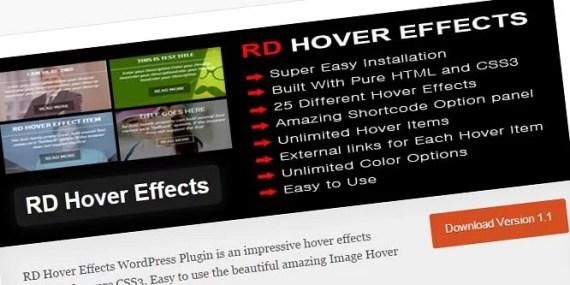 Plugin colocar texto sobre imagen con RD Hover Effects