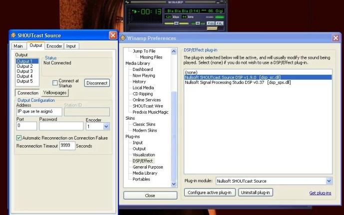 Configurar winamp 3