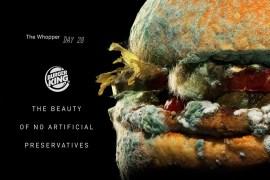 Burger King lanza campaña «Whopper podrida» para anunciar que eliminará conservadores artificiales
