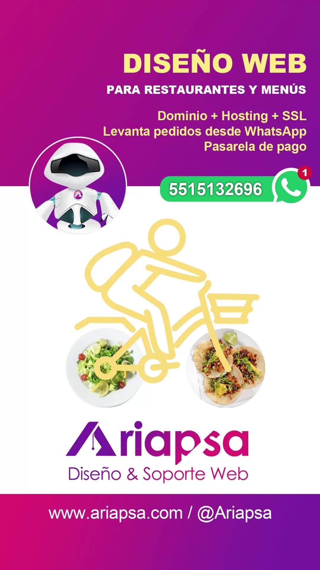 whatsapp menús Ariapsa