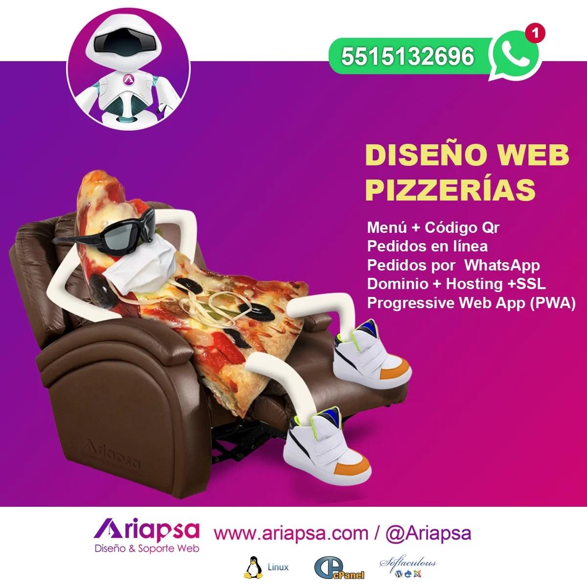 Diseño web pizzerias Ariapsa México 3