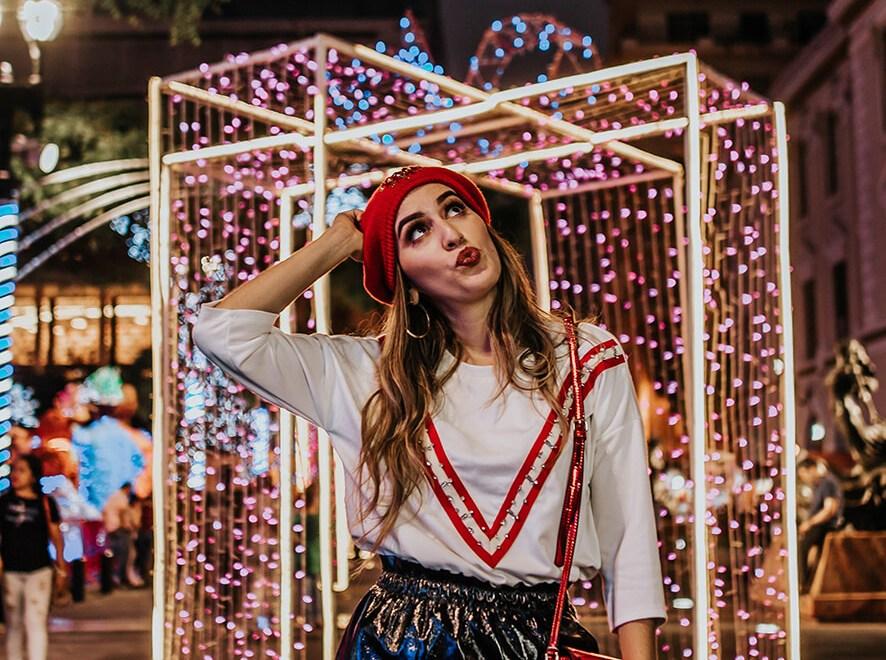 1 look especial para vestir en  navidad por las calles de Guayaquil