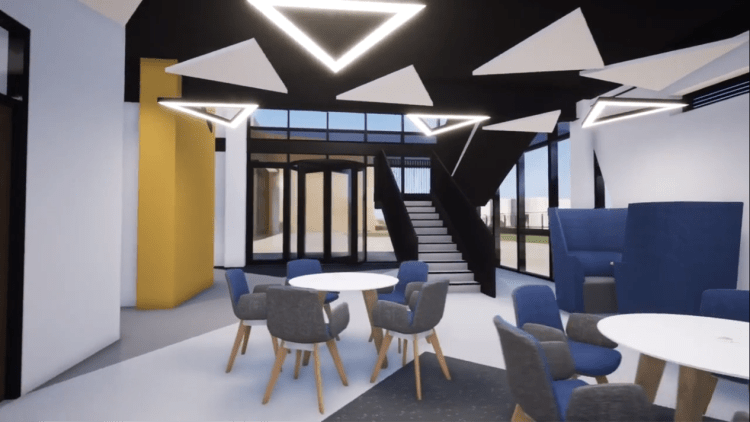 Entrance lounge and collaboration space