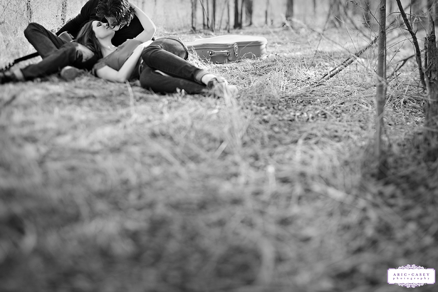 classic black and white sexy and romantic photo of caitlin vaughn and ryan thurman photographed by aric and casey photography