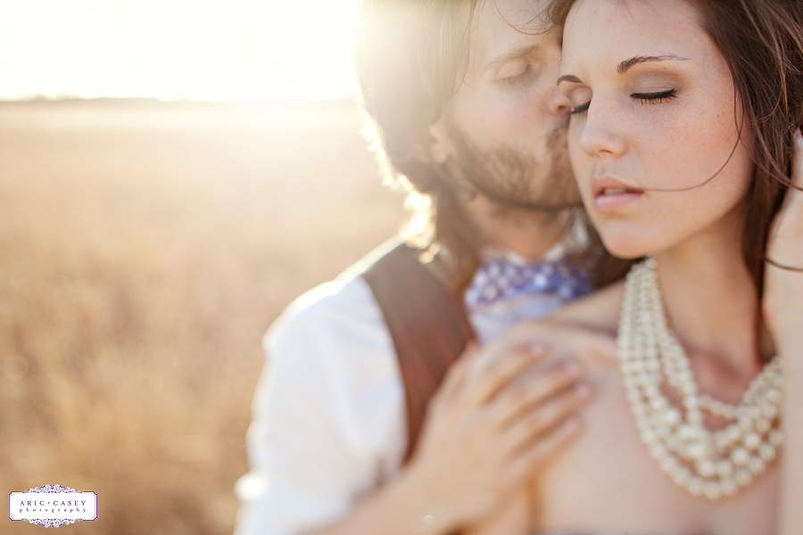 whimsical, beautiful, airy, light, romantic engagement pictures of Caitlin Vaughn and Ryan Thurman by Aric and Casey Photography