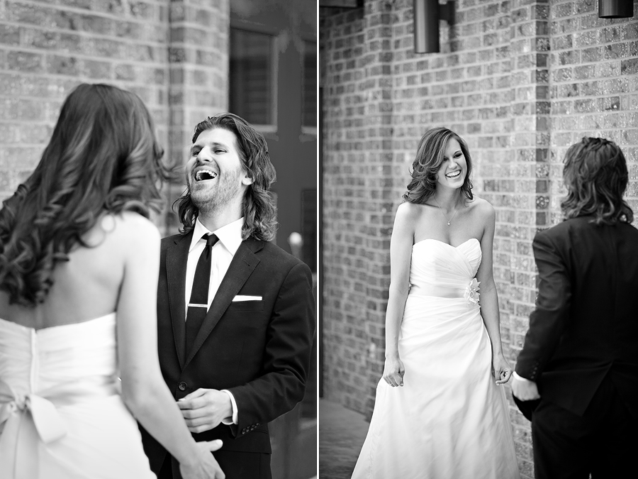 First Look on your wedding day, Lubbock Texas Wedding Photographer Aric and Casey Photography