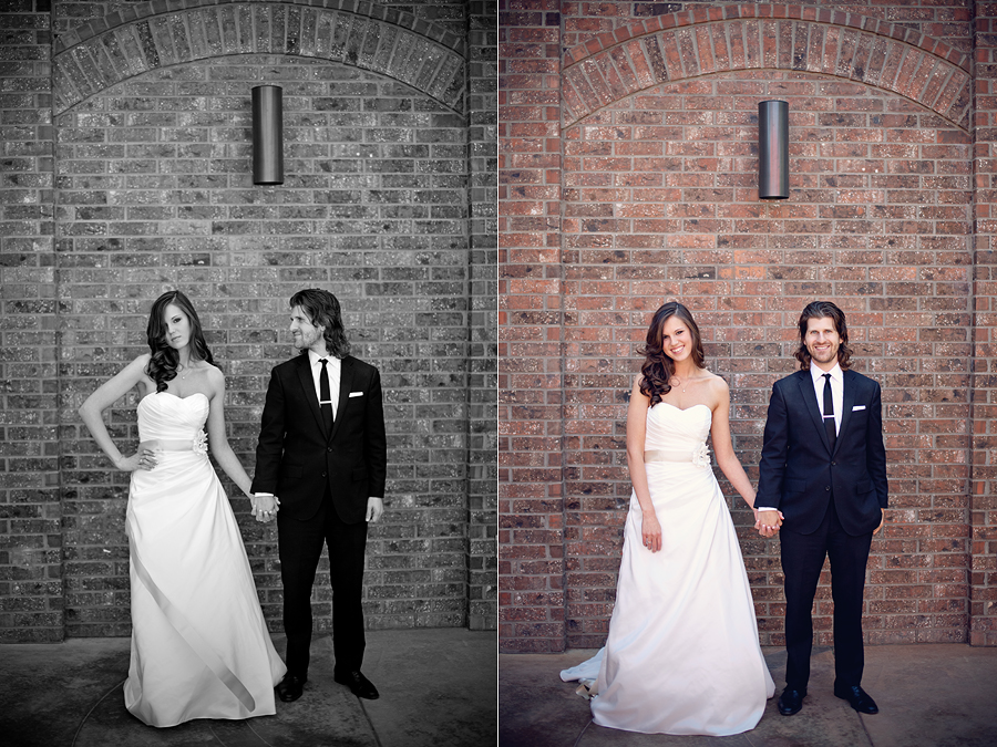 Bride and groom portraits at McPherson Wine Cellars by Aric and Casey Photography in Lubbock Texas