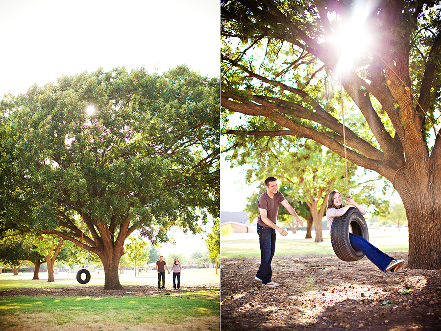 Swinging in a tire swing lubbock wedding photographer