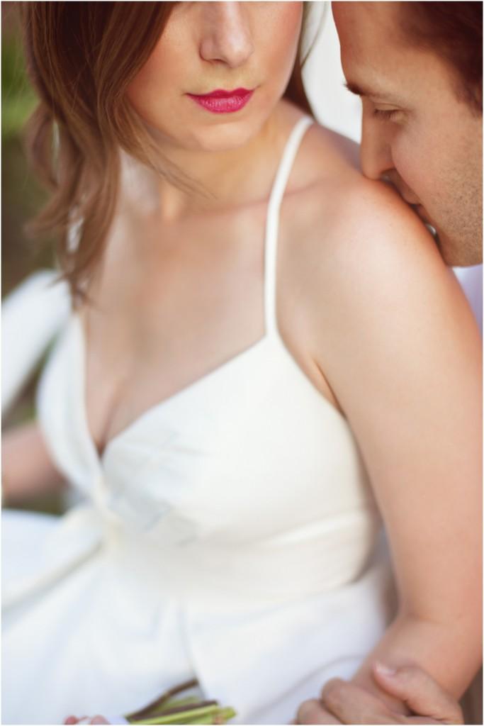 Bridal red lipstick