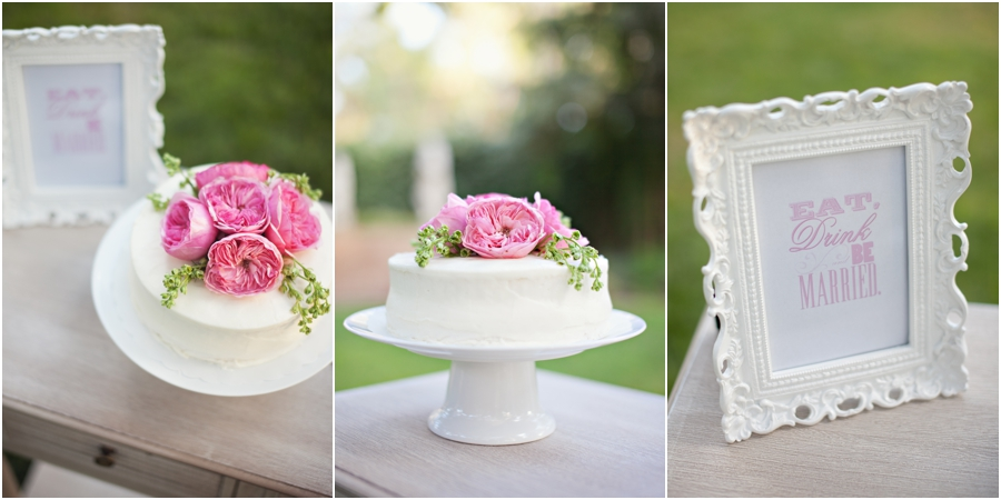 Pink and white wedding details in lubbock texas