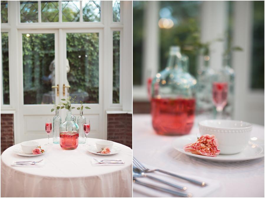 soft pink wedding details