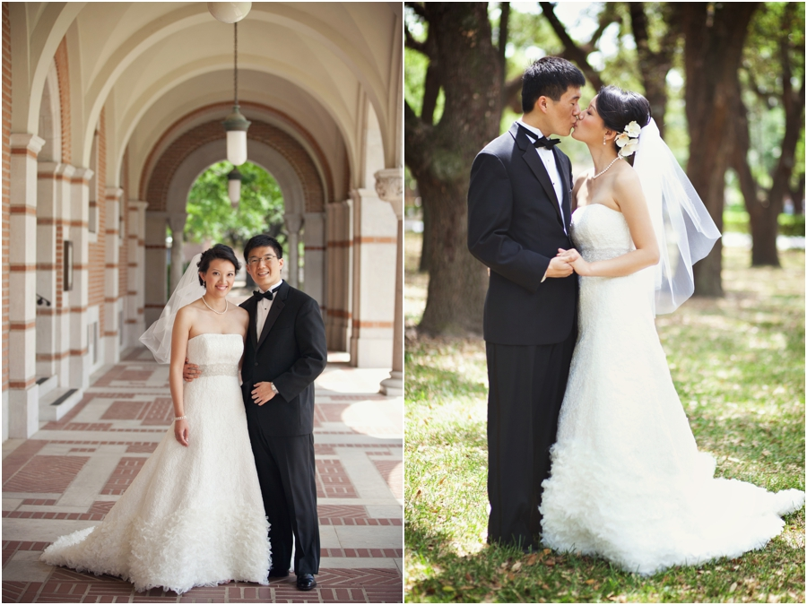 Bride and groom at Rice University