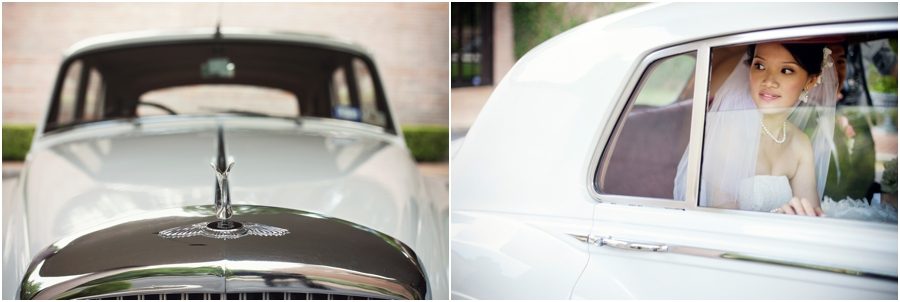 Bride in White Rolls Royce
