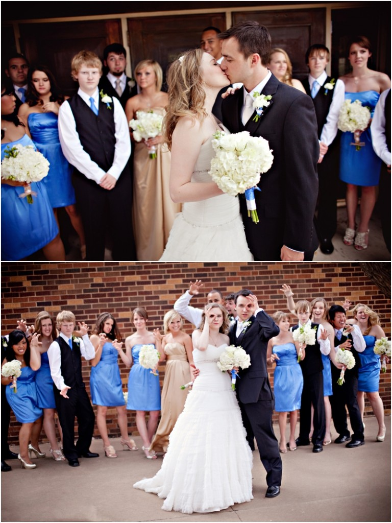 Fun large bridal party pictures