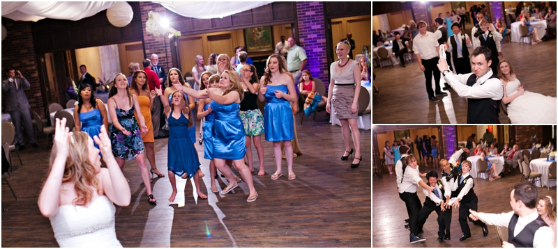 Bouquet and garter toss at the legacy event center in lubbock texas