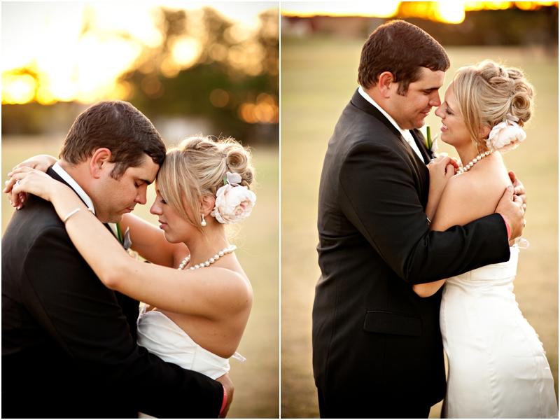 Lubbock Texas Sunset bride and groom