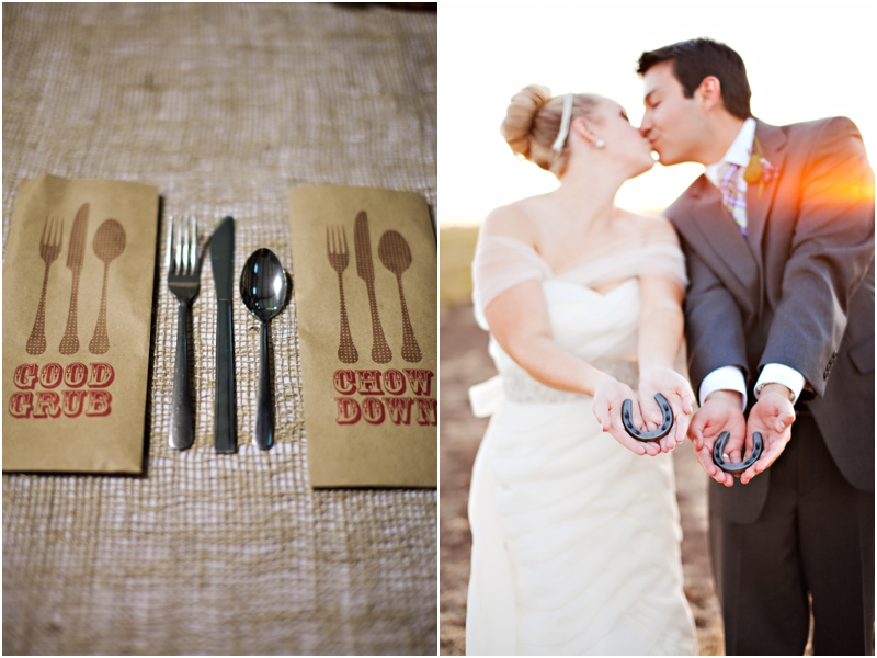 cute rustic wedding details in texas