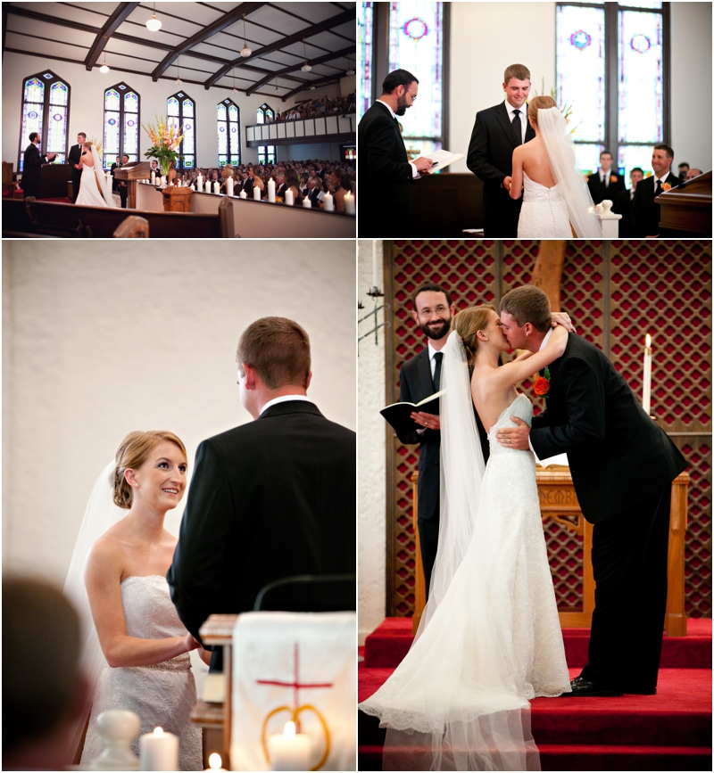 wedding ceremony at First United Methodist Church Lubbock wedding photographer