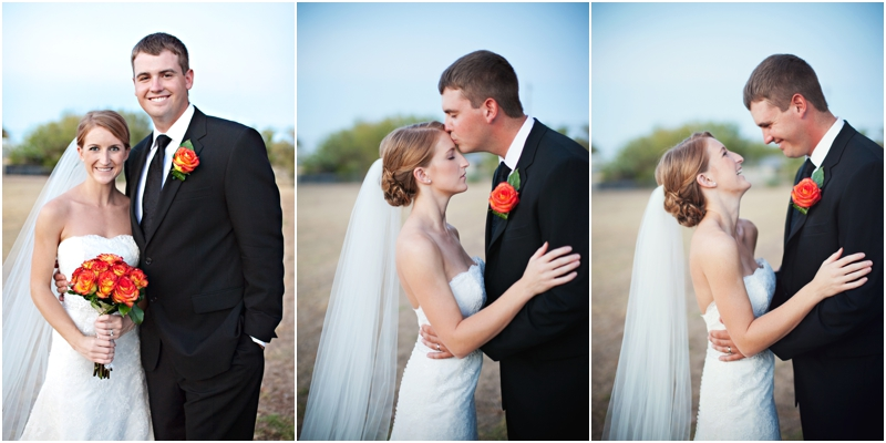 Bride and groom triptych photographs during first look before ceremony