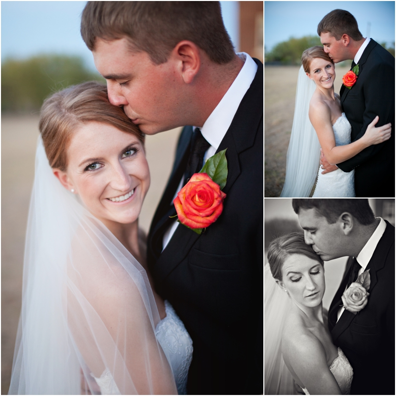Bride and groom outdoor portraits on wedding day