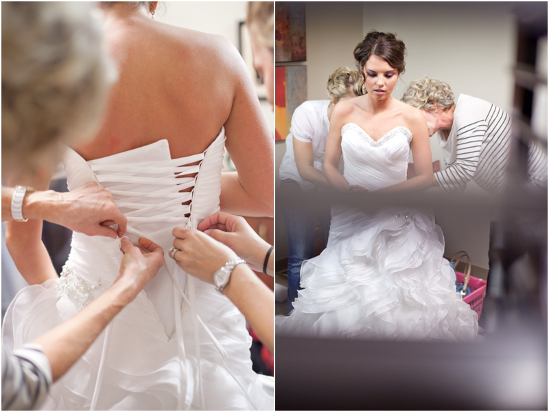 bride getting ready for Lubbock texas wedding