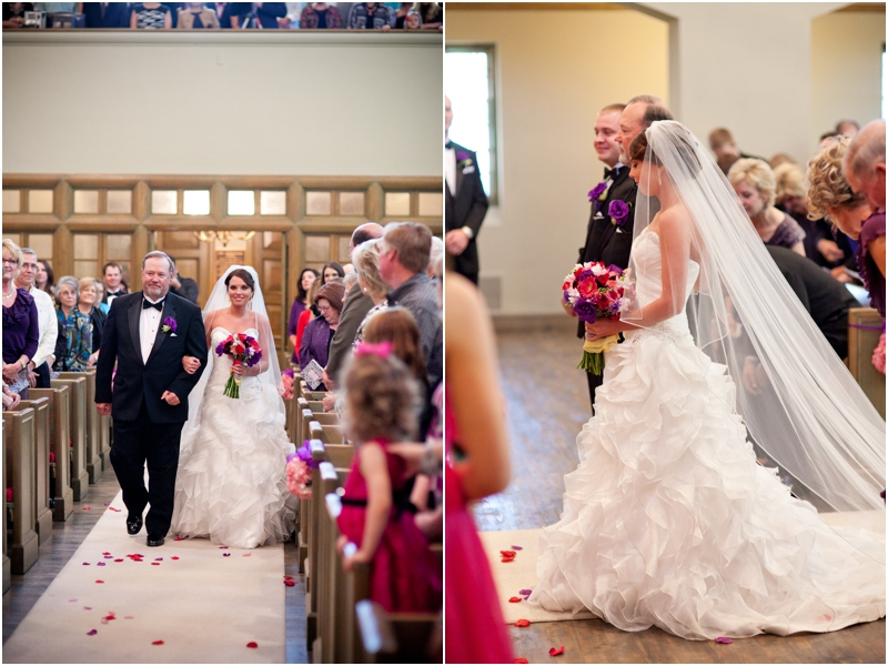 bride walking down the aisle at The Legacy