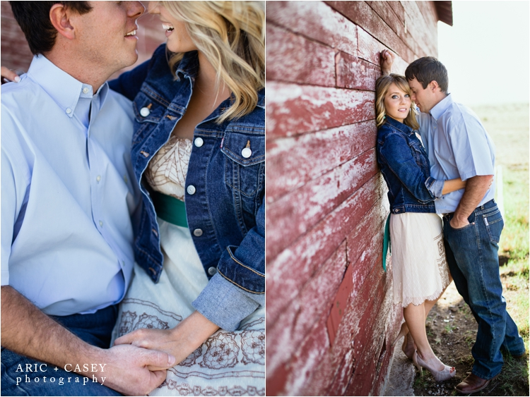 red barn engagement photos