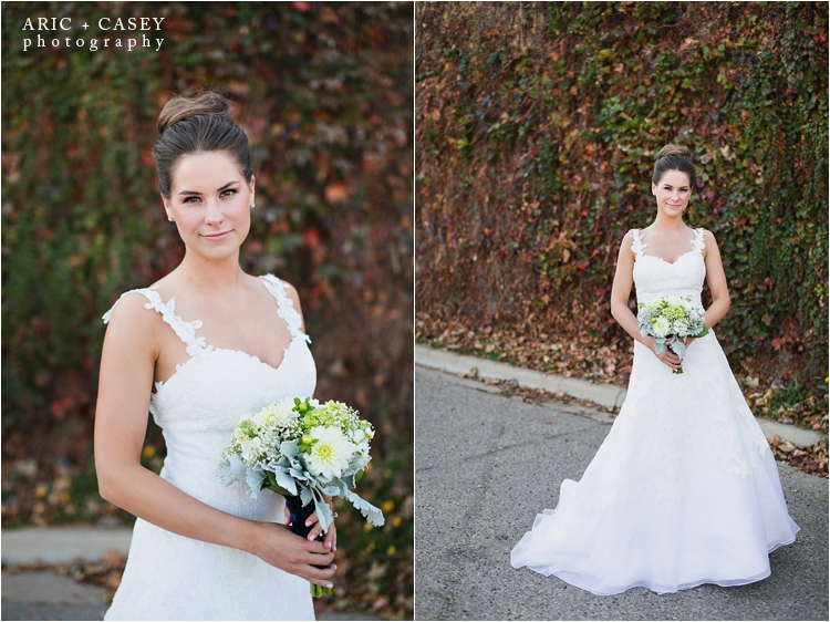 Fall Ivy colored wall bridal portrait lubbock photographer