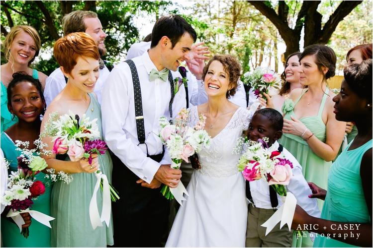 bridal party portraits at walnut tree wedding venue
