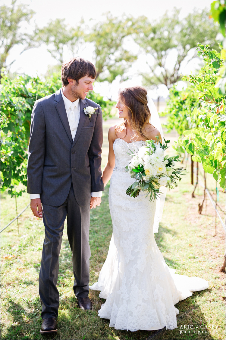 caprock winery vineyard wedding
