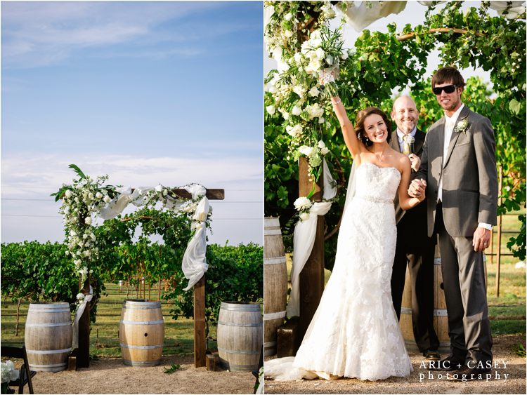 wedding ceremony at caprock winery outdoors