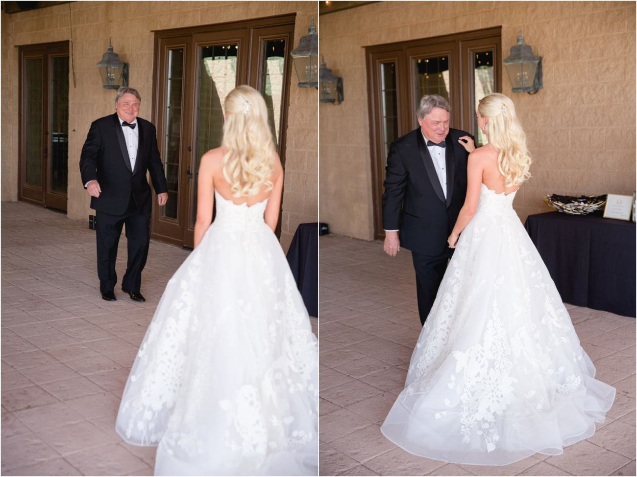 step father sees bride