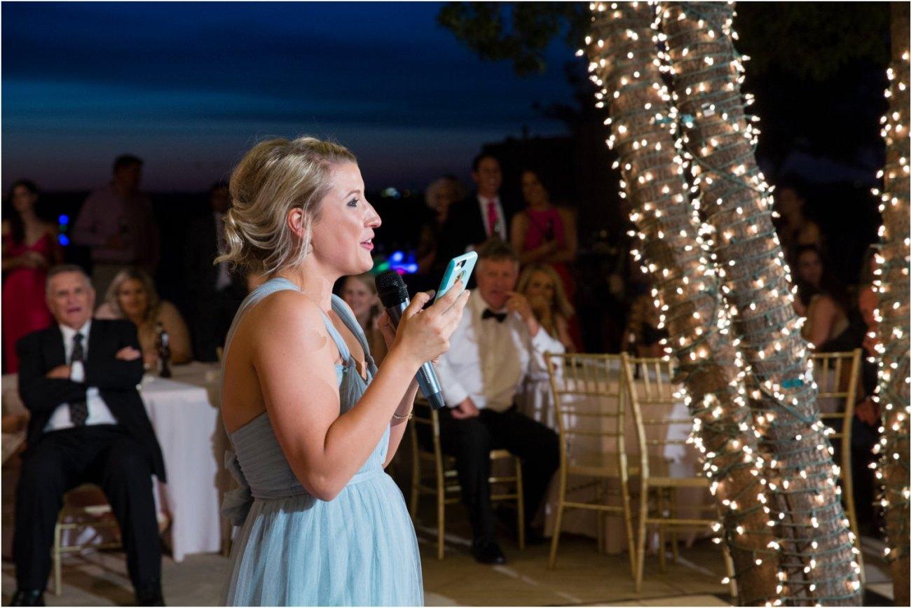 bridesmaid giving toast
