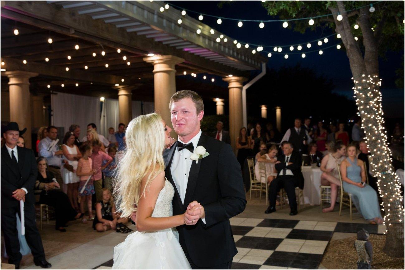 lubbock outdoor wedding reception
