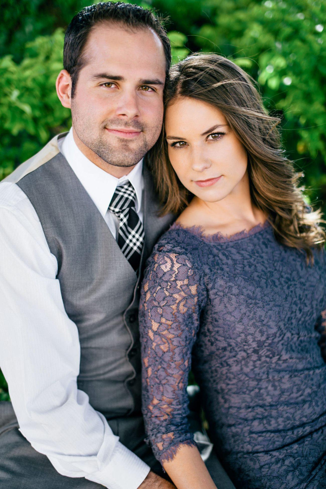 stylish engagement couple