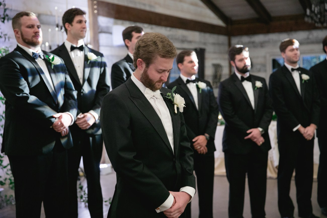 grooms reaction