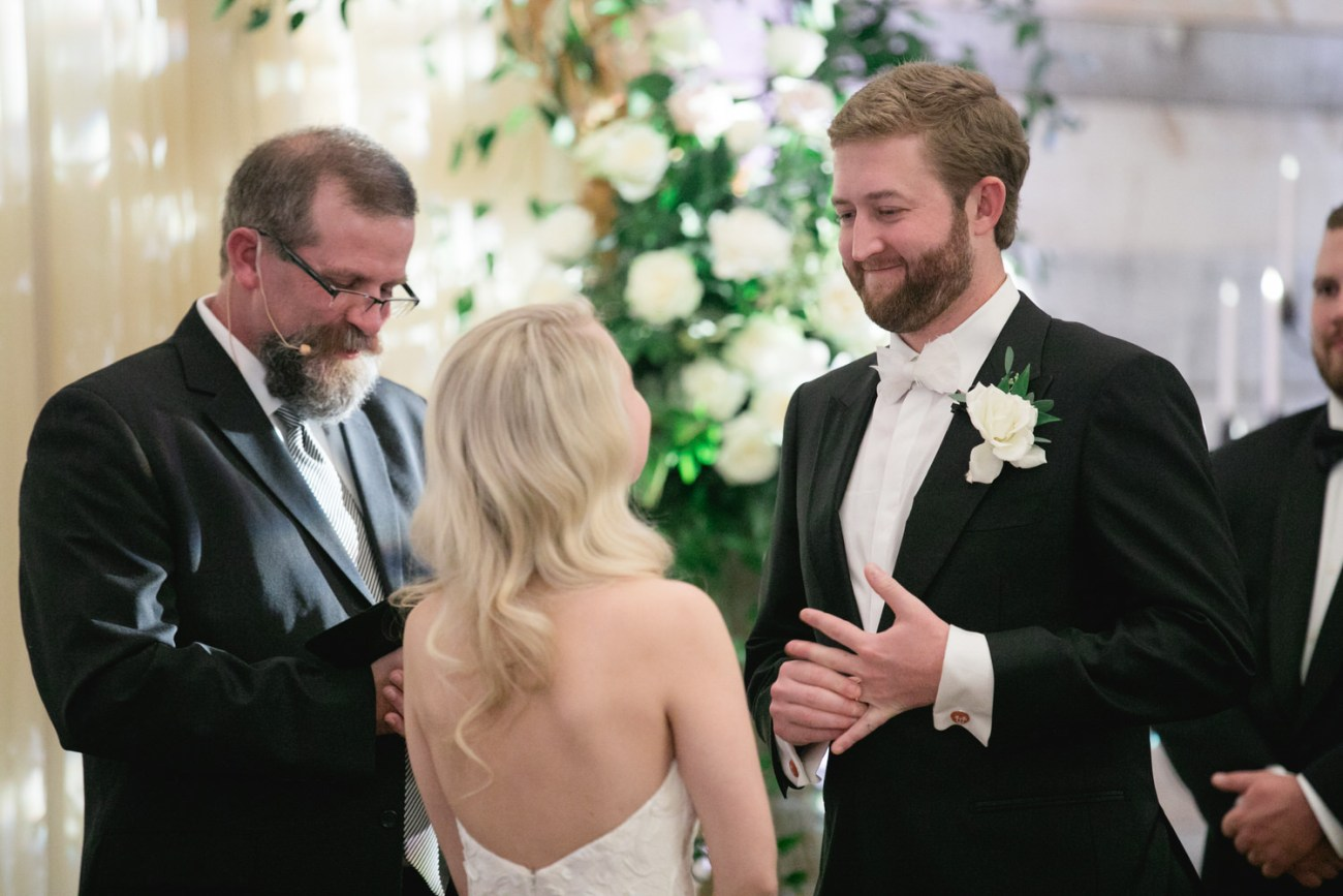 groom excited about ring